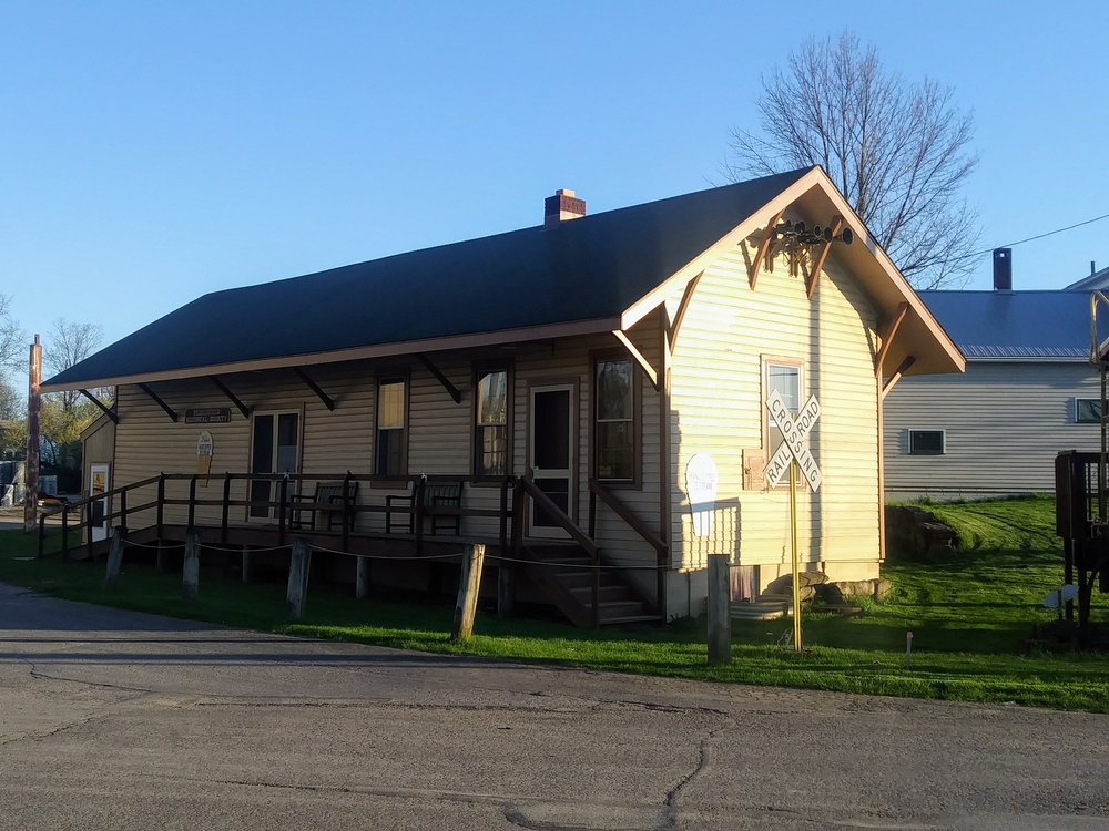 Middlefield Ohio 1874 B&O Depot with Evening Sunset - 4/22