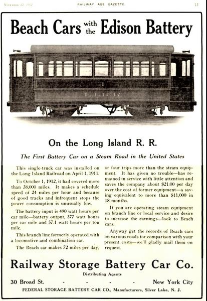 LIRR Battery Car #1 Brochure