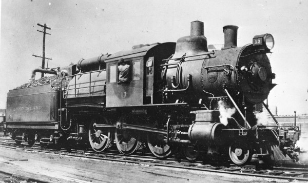 LIRR G54sb Camelback No 13 Taking on Water @LICity-c.1910 71kb