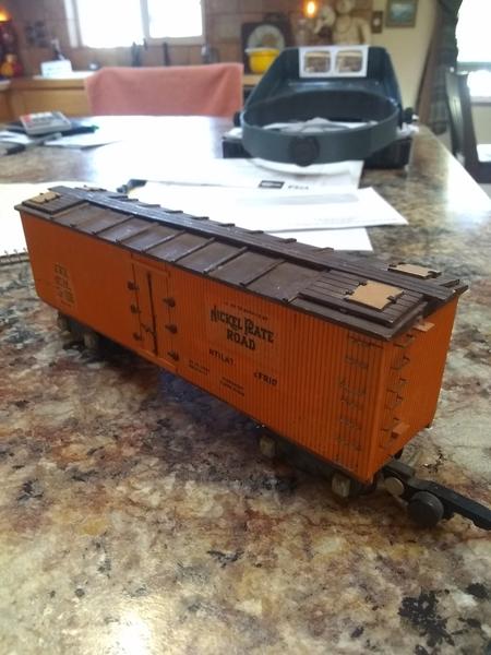 S scale boxcar