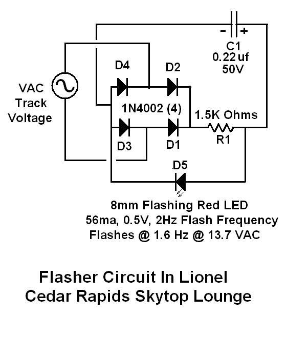 flashing red light circuit diagram