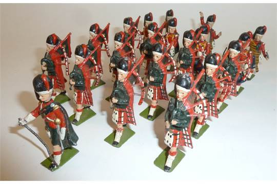 Britains bagpipe band