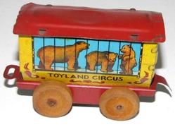 bear circus car