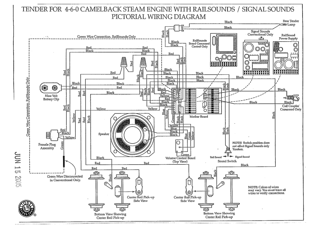 tracing wiring in lionel camelback