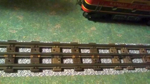nice example painted train table