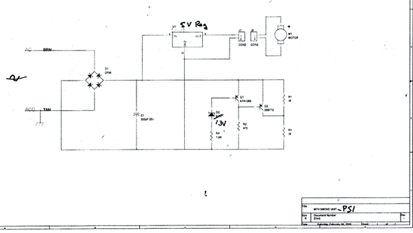 MTH PS-1 Smoke Unit Schematic