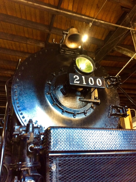 Reading T1 no. 2100 in July 2019. We just painted the front of the engine.