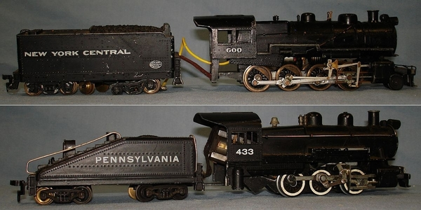 UNKNOWN_HO_MODEL_RAILROAD_BRASS_STEAM_ENGINES_TRAIN_LOCOMOTIVES_NEW_YORK_CENTRAL_PENNSYLVANIA_COAL_TENDERS