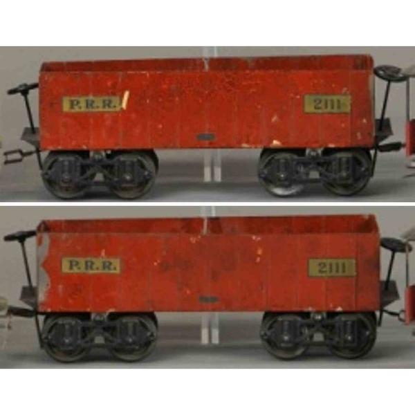 voltamp-2111-prr-railway-toy-box-car-gondola-2111-in-burnt-orange