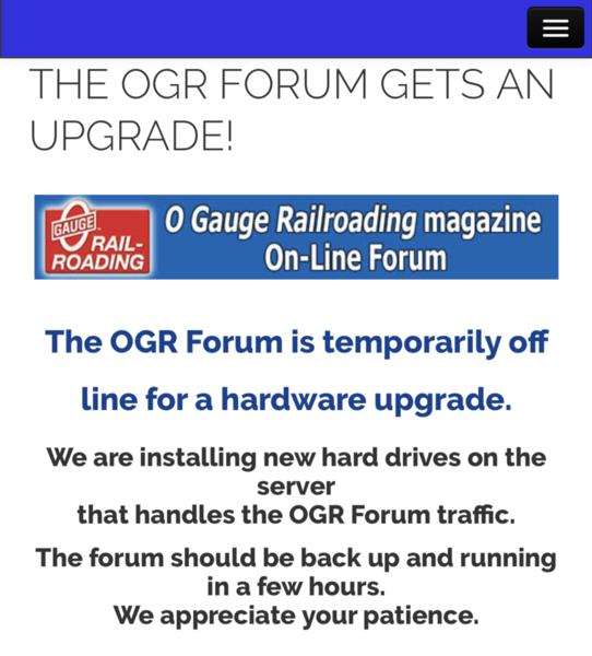 1 OGR upgrade