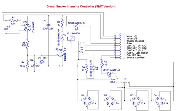 Diesel Smoke Intensity Controller [SMT Version) Schematic