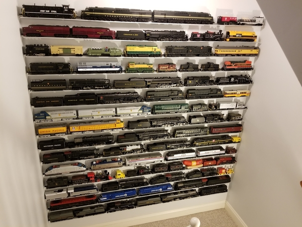 Stairway Wall of Trains